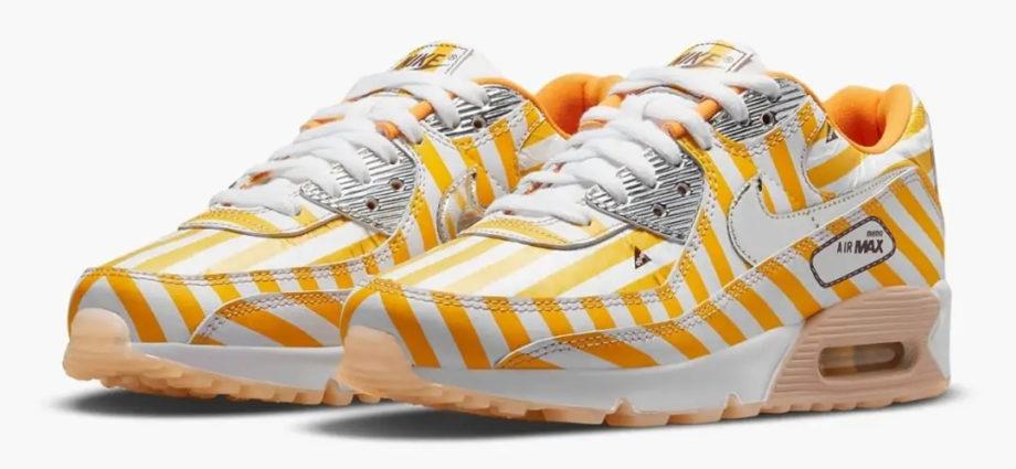 NIKE AIR MAX 90 SWOOSH MART Yellow DD5481-735 • SneakerDrops