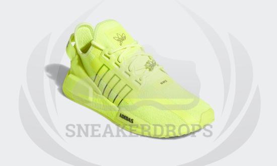 adidas nmd r1 v2 solar yellow black white h02654 05